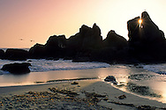 Sunset at Luffenholtz Beach, near Trinidad, Humboldt County, California