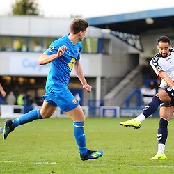 TELFORD COPYRIGHT MIKE SHERIDAN 29/12/2018 - GOAL. Brendon Daniels of AFC Telford scores to make it 1-1 during the Vanarama Conference North fixture between AFC Telford United and Leamington at the New Bucks Head Stadium.