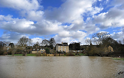© Licensed to London News Pictures. 27 January 2013. Charlbury, Oxfordshire. Floods after the snow melted. Photo credit : MarkHemsworth/LNP