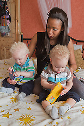 Mother with twins. (This photo has extra clearance covering Homelessness, Mental Health Issues, Bullying, Education and Exclusion, as well as the usual clearance for Fostering & Adoption and general Social Services contexts,)