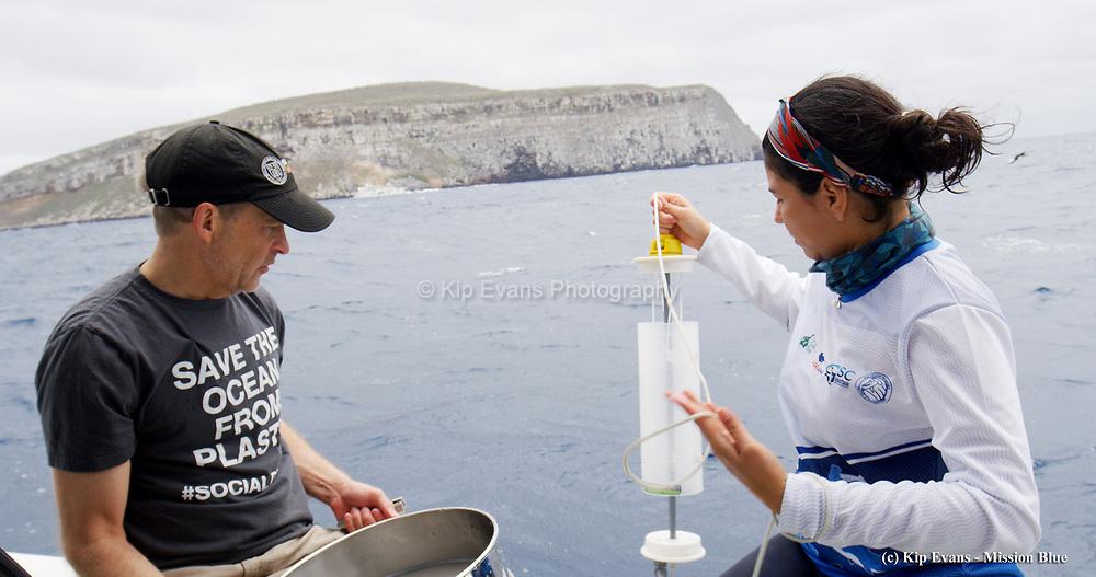 Water Quality Testing Darwin Island, Galapagos National Park