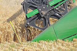 Cutting grain in eastern Idaho