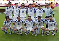 Fotball<br /> Euro 2004<br /> 25.06.2004<br /> Foto: Witters/Digitalsport<br /> NORWAY ONLY<br /> <br /> Frankrike v Hellas 0-1<br /> <br /> obere Reihe v.l. Traianos Dellas - Angelos Charisteas - Konstantinos Katsouranis - Panagiotis Fyssas - Michalis Kapsis - Torwart Antonis Nikopolidis<br /> untere Reihe v.l. Georgios Seitaridis - Angelos Basinas -  Themistoklis Nikolaidis - Theodoros Zagorakis - Georgios Karagounis Griechenland