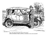 """P. C. """"You were doing forty miles an hour, Sir."""" Motorist (whispering). """"Make it seventy; I'm trying to sell him the thing."""""""