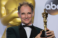 """88th Academy Awards press room.<br /> Best actor in a supporting role Mark Rylance for the film """"Bridge of Spies."""""""