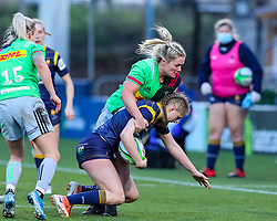 Vicky Laflin of Worcester Warriors Women is brought to ground - Mandatory by-line: Nick Browning/JMP - 20/12/2020 - RUGBY - Sixways Stadium - Worcester, England - Worcester Warriors Women v Harlequins Women - Allianz Premier 15s
