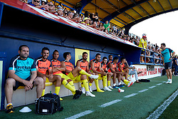 July 17, 2018 - Villareal, Castellon, Spain - Villarreal CF players look on prior to the Pre-Season Friendly match between Villarreal CF and Hercules CF at Mini Estadi on July 17, 2018 in Vila-real, Spain  (Credit Image: © David Aliaga/NurPhoto via ZUMA Press)