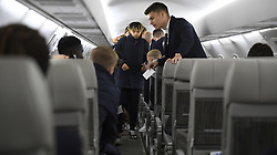 November 4, 2019, Maastricht, NETHERLANDS: Genk's Theo Bongonda pictured before the departure of Belgian soccer team KRC Genk, from the airport in Maastricht, the Netherlands, towards Liverpool, United Kingdom, Monday 04 November 2019. Tomorrow Genk will play English club liverpool FC in the group stage of the UEFA Champions League. BELGA PHOTO YORICK JANSENS (Credit Image: © Yorick Jansens/Belga via ZUMA Press)