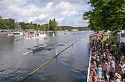 Henley-On-Thames, Berkshire, UK.,Sunday, 15.08.21,   2021 Henley Royal Regatta, Henley Reach, River Thames, Thames Valley,  [Mandatory Credit © Peter Spurrier/Intersport Images], Finals' Day,