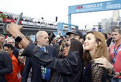 March 10, 2019 - Hong Kong, HONG KONG - Naomi Campbell on the Hong Kong race 2019 starting grid, .Super model Campbell 48, catches the eye in quirky denim puffball jacket as she attends the Formula E Hong Kong E-Prix.HONG KONG, CHN, 10. March 2019, Formula E Hong Kong .E-Prix, FIA Formula E, Formula E Grand Prix 2019.  Formel E, Elektro e-prix Autorennen (Credit Image: © David McIntyre/ZUMA Wire)