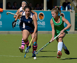 Roxy van Wik of Pearson and Alex Glaum of Herschel during day one of the FNB Private Wealth Super 12 Hockey Tournament held at Oranje Meisieskool in Bloemfontein, South Africa on the 6th August 2016<br /> <br /> Photo by:   Frikkie Kapp / Real Time Images