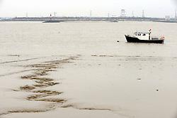© Licensed to London News Pictures. 13/02/2016<br />  The River Thames on Flood alert.<br /> The river Thames at Ingress Park,Greenhithe,Kent this morning (13.02.2016)<br />  (Byline:Grant FalveyLNP)
