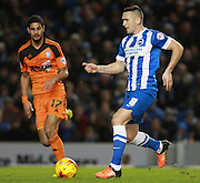 Brighton central midfielder Andrew Crofts during the Sky Bet Championship match between Brighton and Hove Albion and Ipswich Town at the American Express Community Stadium, Brighton and Hove, England on 29 December 2015. Photo by Bennett Dean.