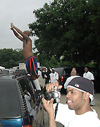 Damon Dash.Bad Boy vs. Rocafella Baseball Game.To benefit disadvantaged kids.Stony Park.Easthampton, NY.July 4th, 2001.Photo by Celebrityvibe.com..