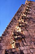 MEXICO, MAYAN, YUCATAN Uxmal; Pyramid of the Magician stairway