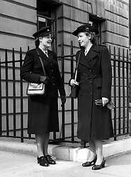 File photo dated 27/09/48 of the uniforms to be worn by State Registered Nurses (left) and State Enrolled Assistant Nurses for the then newly formed National Health Service (NHS).