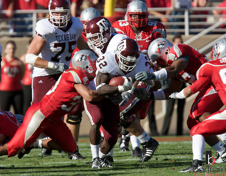 Texas A&M running back Cyrus Gray at the University of New Mexico on Saturday, Sept. 6, 2008 in Albuquerque, New Mexico.