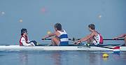 Hamburg. GERMANY.   NED JM8+. Misty, Foggy,  atmospheric, conditions, Friday, Morning training at the 2014 FISA Junior World rowing. Championships.  07:53:58  Friday  08/08/2014  [Mandatory Credit; Peter Spurrier/Intersport-images] © Peter SPURRIER, Atmospheric, Rowing