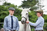 15/08/2013. David Connaughton and Lorcan Glynn from Athlone with Caoran Beg Realtin at the 90th Connemara Pony show in Clifden Co. Galway. Photo:Andrew Downes