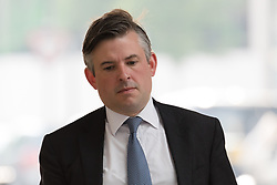 © Licensed to London News Pictures. 27/05/2018. London, UK.  Jonathan Ashworth arrives at BBC Broadcasting House to appear on the Andrew Marr show.  Photo credit: Vickie Flores/LNP