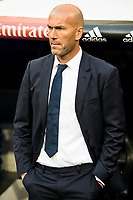 Real Madrid's player Zinedine Zidane during a match of La Liga Santander at Santiago Bernabeu Stadium in Madrid. August 27, Spain. 2016. (ALTERPHOTOS/BorjaB.Hojas)