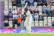 KL Rahul of India leaves a ball bowled by James Anderson of England during the first day of the 4th SpecSavers International Test Match 2018 match between England and India at the Ageas Bowl, Southampton, United Kingdom on 30 August 2018.
