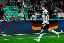 LJUBLJANA, SLOVENIA - JUNE 06: LJUBLJANA, SLOVENIA - JUNE 06: David Raum of Germany celebrates after Lukas Nmecha of Germany scoring their side's first goal  during the 2021 UEFA European Under-21 Championship Final match between Germany and Portugal at Stadion Stozice on June 6, 2021 in Ljubljana, Slovenia.  Photo by Grega Valancic / Sportida