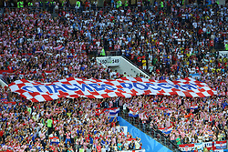 July 11, 2018 - Moscow, Russia - July 11, 2018, Moscow, FIFA World Cup 2018 Football, the playoff round. 1/2 finals of the World Cup. Football match Croatia - England at the stadium Luzhniki. Fans. (Credit Image: © Russian Look via ZUMA Wire)