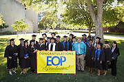 San Jose State students celebrate during the Educational Opportunity Program convocation at San José State University's Tommie Smith & John Carlos Lawn in San Jose, California, on May 22, 2013. (Stan Olszewski/SOSKIphoto)