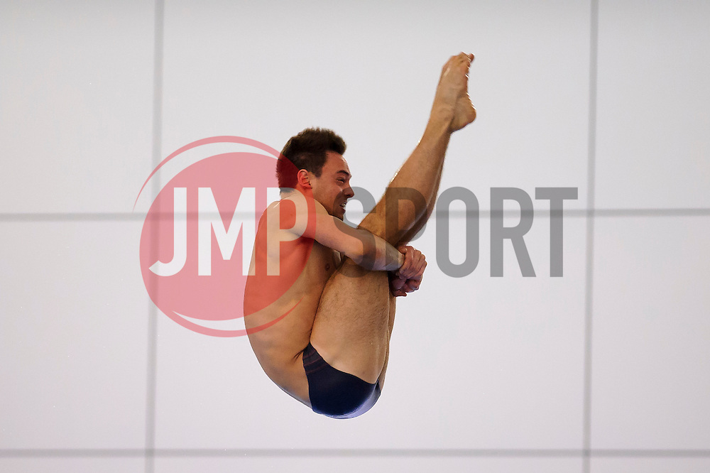 Tom Daley of Plymouth Diving competes during the Mens 10m Platform Preliminary eventually qualifying for the final in 1st place with a score of 416.65 - Photo mandatory by-line: Rogan Thomson/JMP - 07966 386802 - 02/02/2014 - SPORT - DIVING - Southend Swimming & Diving Centre, Southend-on-Sea - British Gas Diving National Cup 2014 Day 3.
