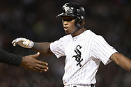 CHICAGO - SEPTEMBER 25:  Tim Anderson #7 of the Chicago White Sox reacts after hitting a single against the Cleveland Indians on September 25, 2019 at Guaranteed Rate Field in Chicago, Illinois.  (Photo by Ron Vesely)  Subject:   Tim Anderson