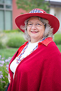 Peggy Horyza poses for a portrait during the Milpitas Memorial Day Ceremony at Veterans Memorial Flag Plaza in Milpitas, California, on May 27, 2013. (Stan Olszewski/SOSKIphoto)