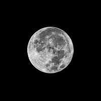 Full Moon. Autumn Nature in New Jersey. Image taken with a Nikon D810A  camera and 80-400 mm VR II lens (ISO 200, 400 mm, f/16, 1/125 sec).