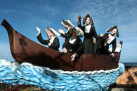 """Sisters of St Paul Statue in Dumaguete, often called the """"Sisters Statue"""".  Seven Sisters of St. Paul of Chartres, set sail from Saigon and arrived in Dumaguete, southern Philippines in 1904. Their mission was to nurture the faith of the predominantly Catholic population recently freed from 377 years of Spanish rule but was then prey to the intense proselytizing campaign of Protestants as well as patriotic influences of the Philippine Independent Church. Starting their missionary work under extreme conditions of poverty and enormous cultural difficulties, they nevertheless proved to be excellent nurses and educators.  The first Sisters of St. Paul of Chartres in the Philippines opened the first Paulinian School in Dumaguete Negros Oriental in 1904."""
