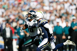 Philadelphia Eagles wide receiver Reggie Brown #86 runs down field during the NFL game between the Philadelphia Eagles and the San Diego Chargers on November 15th 2009. At Qualcomm Stadium in San Diego, California. (Photo By Brian Garfinkel)