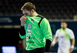 Klemen Ferlin of Slovenia during handball match between National Teams of Sweden and Slovenia at Day 3 of IHF Men's Tokyo Olympic  Qualification tournament, on March 14, 2021 in Max-Schmeling-Halle, Berlin, Germany. Photo by Vid Ponikvar / Sportida
