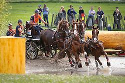 De Ronde Koos (NED) - Bilbo, Nietje, Santana, Ulano, Zimon<br /> F5 Marathon Driving competition<br /> CHIO Aachen 2013<br /> © Hippo Foto - Dirk Caremans