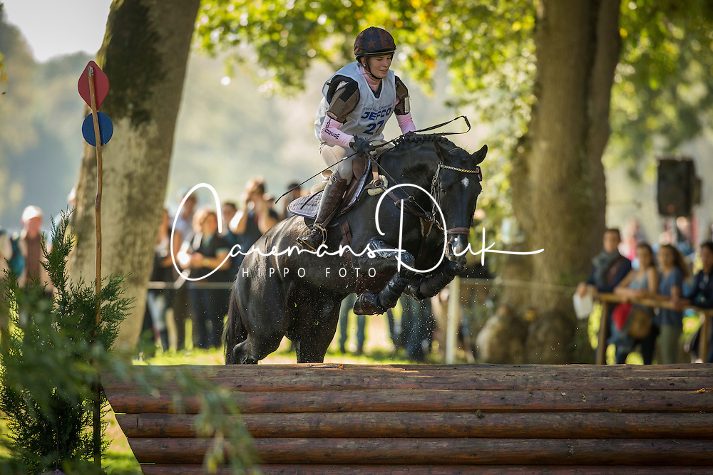 Van Nijnatten Margo (NED) - Diretty CS<br /> Cross country 6 years old horses<br /> Mondial du Lion - Le Lion d'Angers 2014<br /> © Dirk Caremans<br /> 18/10/14