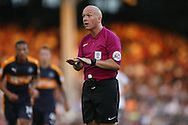 Referee Simon Hooper in action.  Skybet EFL championship match, Fulham v Newcastle Utd at Craven Cottage in Fulham, London on Friday 5th August 2016.<br /> pic by John Patrick Fletcher, Andrew Orchard sports photography.
