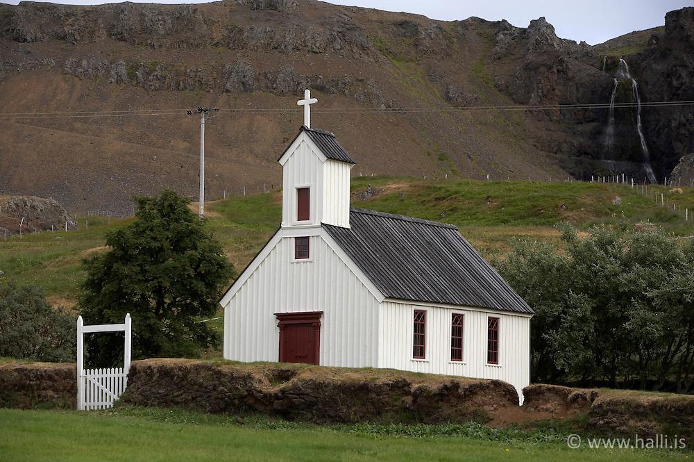 Church at Stadur in Reykholasveit - Kirkjan að Stað í Reykhólasveit
