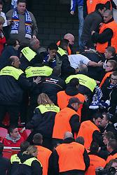 23.10.2011,  BayArena, Leverkusen, GER, 1.FBL, Bayer 04 Leverkusen vs Schalke 04, im Bild.Randale nach dem 0:1..// during the 1.FBL, Bayer Leverkusen vs Schalke 04 on 2011/10/23, BayArena, Leverkusen, Germany. EXPA Pictures © 2011, PhotoCredit: EXPA/ nph/  Mueller       ****** out of GER / CRO  / BEL ******