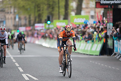 Amy Pieters (NED) of Boels-Dolmans Cycling Team finishes in fourth place in the Tour de Yorkshire - a 122.5 km road race, between Tadcaster and Harrogate on April 29, 2017, in Yorkshire, United Kingdom.