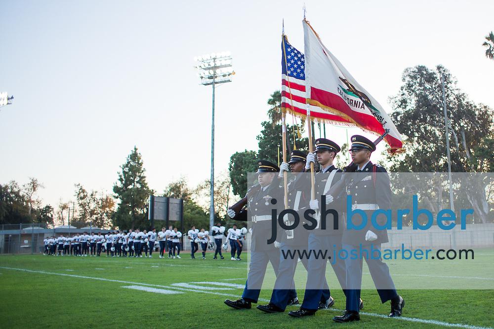 A nonleague football game between Northwood High School of Irvine and John F. Kennedy High School at Glover Stadium on Thursday, September 1, 2016 in Anaheim, California. (Photo/Josh Barber)
