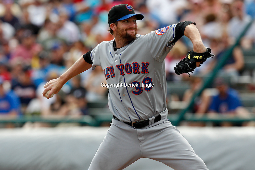 March 5, 2011; Lake Buena Vista, FL, USA; New York Mets relief pitcher Bobby Parnell (39) during a spring training exhibition game against the Atlanta Braves at Disney Wide World of Sports complex.  Mandatory Credit: Derick E. Hingle