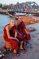 The Yangon River is also known as the Hlaing River.   As for the monks, nearly all Burmese boys become novice monks usually between the ages of 10 and 20.  All things possessed by novice monks must be offered by the community.  The only things allowed to keep are robes, a cup, an umbrella and an alms bowl.