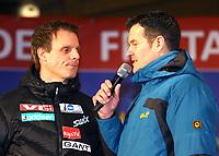 Hopp<br /> FIS World Cup<br /> Oberstdorf Tyskland<br /> 27.12.2013<br /> Foto: Gepa/Digitalsport<br /> NORWAY ONLY<br /> <br /> FIS Weltcup der Herren, Vierschanzen-Tournee, Eroeffnungsfeier. <br /> Bild zeigt Trainer Alexander Stöckl (NOR) und Moderator Jens Zimmermann.