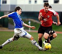 Photo: Alan Crowhurst.<br />Brighton & Hove Albion v Bristol City. Coca Cola League 1. 24/02/2007. Bristol's David Noble (R) attacks.