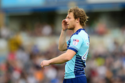 Craig Mackail-Smith of Wycombe Wanderers cuts a dejected figure - Mandatory by-line: Dougie Allward/JMP - 21/04/2018 - FOOTBALL - Adam's Park - High Wycombe, England - Wycombe Wanderers v Accrington Stanley - Sky Bet League Two