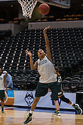 April 2, 2016; Indianapolis, Ind.; Adriana Dent gets a layup during their practice session at Bankers Life Fieldhouse.
