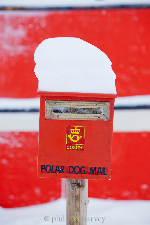 A post box beside the Noorderlicht, a Dutch Schooner. Each year the Nooderlicht is frozen into the ice in Spitsbergen, and serves as an excellent base camp in the wilderness, perfect for spotting polar bears. Spitsbergen is the largest island of the arctic archipelago Svalbard, of Norway